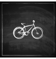 vintage with a bike on blackboard background vector image vector image