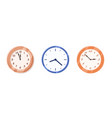 wall clock collection isolated on white background vector image