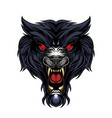 wild wolf head esport mascot logo vector image vector image