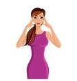 Woman migraine headache vector image vector image