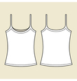 Woman singlet template vector image