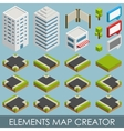 Isometric elements map creator vector image