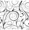 Swirling plant pattern vector image