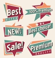 Set of retro promotional labels vector image