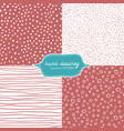 hand drawing seamless pattern vector image