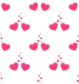 valentines loving hearts seamless pattern vector image