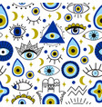abstract eyes pattern evil hand drawn turkish vector image vector image