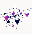 abstract geometric background sports poster vector image vector image