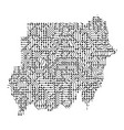 abstract schematic map of sudan from the black vector image vector image