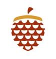 acorn sign vector image vector image