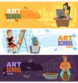 Art School Banners Set vector image vector image