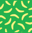 bananas pattern seamless background green vector image vector image