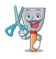 barber putty blade character cartoon vector image