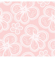 Black and pink lacy corset on white background vector image vector image