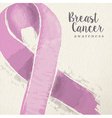 Breast cancer awareness pink ribbon vector image vector image