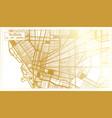 buffalo usa city map in retro style in golden vector image