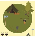 Camping icons elements vector image vector image