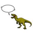 cartoon image of dinosaur vector image vector image