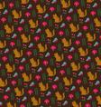 chipmunk pattern vector image vector image