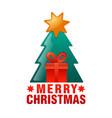christmas card icon vector image vector image