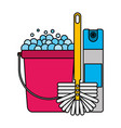 cleaning equipment related vector image vector image