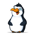 cute cheerful penguin with a funny smile vector image vector image