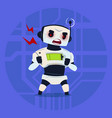 cute robot angry having problem modern artificial vector image