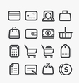 Different shopping icons set vector image vector image