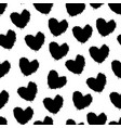 doodle hearts grunge texture vector image