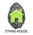 ethno house -fingerprint vector image vector image