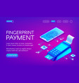 fingerprint payment technology vector image vector image