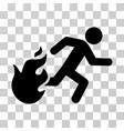 fired running man icon vector image vector image