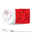 Flag of Malta vector image vector image