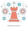 Flat line Business Strategic Management vector image vector image