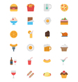 Food Flat Icons 1 vector image vector image