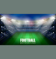 football match world championship stadium 3d vector image