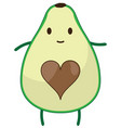 funny avocado vector image