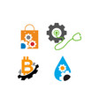 gear business logo design template icon set vector image vector image