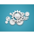 Gears composition background vector image