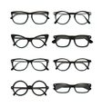 Glasses frame set vector image vector image