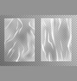 glued paper wrinkled and creased sheets texture vector image