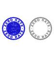 grunge zero rate scratched stamp seals vector image vector image
