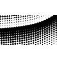 half tone curve vector image vector image