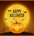 happy halloween banner with pumpkin vector image vector image