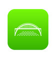 harbour bridge icon green vector image