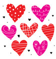 heart love cute cartoon vector image vector image