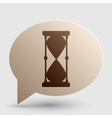 Hourglass sign Brown gradient icon vector image vector image
