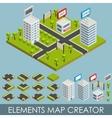 Isometric elements map creator vector image vector image