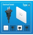 Isometric Switches and sockets set Type A AC vector image vector image