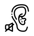 lack hearing deafness icon outline vector image vector image